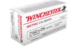 Winchester Ammo MC762TOK Metric 7.62X25mm Tokarev 85 GR Full Metal Jacket - 50rd Box