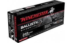 Winchester Ammo SBST243SSA Supreme 243 Winchester Super Short Magnum 95 GR Ballistic Silvertip - 20rd Box