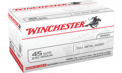 Winchester Ammo USA45AVP Best Value, Case, 45 ACP 230 GR Full Metal Jacket - 100 Rds / Box - 500 Round Case