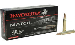 Winchester Ammo S223M2 Match .223/5.56 NATO 69 GR Boat Tail Hollow Point - 20rd Box
