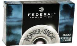 "Federal F2072B Power Shok Buckshot 20GA 3"" 18 Pellets 2 Buck Shot - 5sh Box"