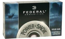 "Federal F127RS Power-Shok 12GA 2.75"" 1oz Slug Shot - 250 shot case."