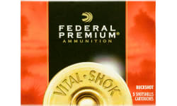 "Federal P108F00 Premium Vital-Shok 10GA 3.5"" 18 Pellets 00 Buck Shot - 5sh Box"