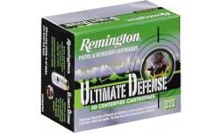 Remington Ammunition HD380BN Ultimate Defense Full Size Handgun 380 ACP 102 GR Brass Jacket Hollow Point - 20rd Box