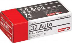 Aguila 1E322110 Case,.32 ACP 71 GR Full Metal Jacket, Brass, Boxer - 1000 Round Case