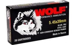 Wolf 545BFMJ Performance 5.45x39mm Bimetal FMJ 60 GR - 750rd Case