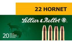 Sellier & Bellot SB22HB 22 Hornet Soft Point 45 GR - 20rd Box