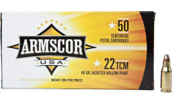 Armscor FAC22TCM1N 22 TCM 40 GR Jacketed Hollow Point - 50rd Box