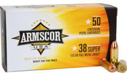Armscor FAC38SUPER1N 38 Super 125 GR Full Metal Jacket - 50rd Box