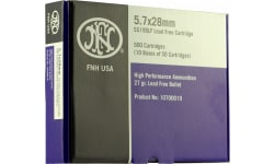 FN 10700012 Centerfire 5.7mmx28mm Lead Free Hollow Point 27 GR - 2000rd Case