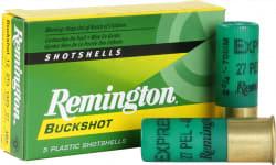 "Remington Ammunition 12BK4 Express 12GA 2.75"" Buckshot 27 Pellets 4 Buck - 5sh Box"
