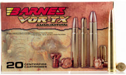 Barnes 21575 VOR-TX 338 Winchester Mag 210 GR Tipped TSX Boat Tail - 20rd Box