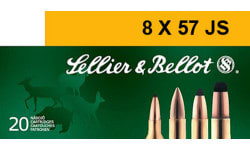 Sellier & Bellot SB857JSB Rifle Hunting 8X57mm JS 196 GR Spce (Soft Point Cut-Through Edge) - 20rd Box