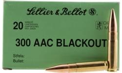 Sellier & Bellot 300BLKSUBA Rifle 300 AAC Blackout 200 GR Full Metal Jacket Subsonic - 20rd Box