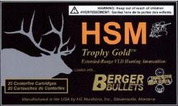 HSM BER65X55140V Trophy Gold 6.5X55mm Swedish 140 GR Boat Tail Hollow Point - 20rd Box