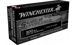 Winchester Ammo SUP300BLK Super Suppressed 300 AAC Blackout/Whisper (7.62x35mm) 200 GR Full Metal Jacket OT - 20rd Box