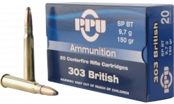 PPU PP303S1 Standard Rifle 303 British 150 GR Soft Point - 20rd Box