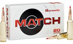 Hornady 81620 Match 6.5 Precision Rifle Cartridge (PRC) 147 GR ELD-Match - 20rd Box
