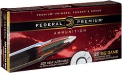 Federal P300RUMA1 Vital-Shok 300 Remington Ultra Magnum (RUM) 180 GR Nosler AccuBond - 20rd Box