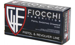 Fiocchi 45LCCMJ Shooting Dynamics 45 Colt (LC) 225 GR Copper Metal Jacket Flat Point - 50rd Box