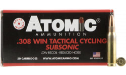 Atomic 00472 Tactical Cycling Subsonic 308 Winchester/7.62 NATO 260 GR Soft Point Round Nose - 50rd Box