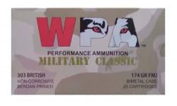 Wolf Military Classic .303 British 174 GR FMJ Ammo - 280rd Box