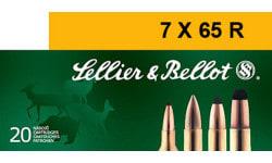 Sellier & Bellot SB765RA Rifle Hunting 7X65mmR 173 GR Spce (Soft Point Cut-Through Edge) - 20rd Box