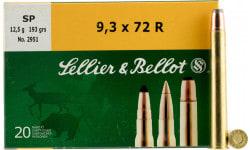 Sellier & Bellot SB9372RA Rifle 9.3mmX72R 193 GR Soft Point - 20rd Box