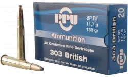 PPU PP303S2 Standard Rifle 303 British 180 GR Soft Point - 20rd Box