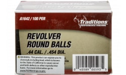 Traditions A1642 Revolver 44 Black Powder 140 GR 100 .454 - 100rd Box