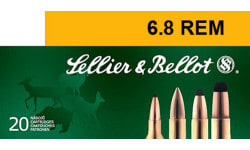 Sellier & Bellot SB68B Rifle Hunting 6.8mm Rem SPC 110 GR PTS (Plastic Tip Special) - 20rd Box