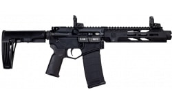 "Diamondback Semi Automatic AR Style Pistol 7"" Barrel 5.56 NATO 30rd Mag - MLOK Handguard, Mbus Black - DB15PDS7B"
