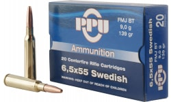 PPU PP30062 Metric Rifle 6.5x55 Swedish 139 GR Full Metal Jacket - 20rd Box