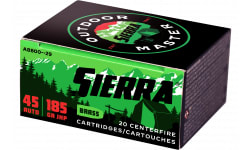 Sierra A880029 Outdoor Master 45A 185 Jacketed Hollow Point - 20rd Box