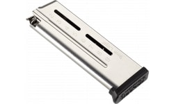 Wilson Combat 5009C9 1911 Compact Elite Tactical Magazine 9mm Luger 9rd Stainless Steel Finish ETM Base Pad