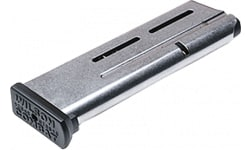 Wilson Combat 5009 1911 Elite Tactical Magazine 9mm Luger 10rd Stainless Steel Finish ETM Base Pad