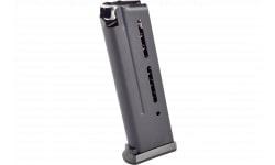 Wilson Combat 5009B 1911 Elite Tactical Magazine 9mm Luger 10rd Stainless Steel Black Finish ETM Base Pad