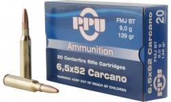 PPU PP3006G Metric Rifle 6.5x52mm Carcano 139 GR Full Metal Jacket - 20rd Box