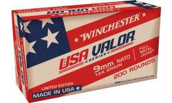 Winchester Ammo 9mm NATO 124 GR FMJ 200/1000 - 200rd Box