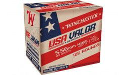 Winchester Ammo, Case, Brass, Boxer, Non Corrosive, Reloadable,  5.56 Nato 62 GR FMJ 125/1250 - 1250 Round Case