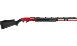 """Savage Arms Stevens 57786 Renegauge Competition 24"""" 9+1 3"""" Red Cerakote Rec Matte Black Fixed Monte Carlo with Adjustable Comb Stock Right Hand (Full Size)"""