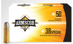 Armscor Ammo .38 Special 158 GR Lead RNFP 50-PACK Made IN USA - 50rd Box