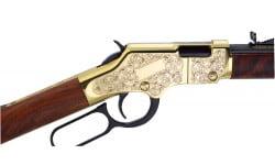 "Henry H004D3 Golden Boy Deluxe Engraved 3rd Ed 22 LR 20.0"" 16+1 Gold"