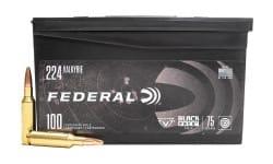 Federal Black Pack .224 Valkyrie 75 GR Full-Metal Jacket 100rd Box