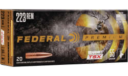 Federal P223S 223 Case, 55 Grain Barnes Triple Shock Bullet, BRN TSX - 20 Rounds / Box -200 Round Case