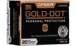 Speer 23980GD Gold Dot 44SPC 200 HP - 20rd Box