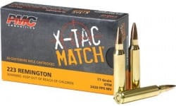 PMC 223XM X-Tac 800 Round Case - .223 Remington 77 OTM Match Grade Ammunition - Loaded with Sierra Open Tip Match Kings - 800 Round Case