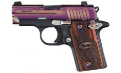 "Sig Sauer 238M380RBT P238 Rainbow *MA Compliant* Single 380 ACP 2.7"" 6+1 NS Rosewood Grip Black Frame Rainbow Titanium PVD Stainless Steel"