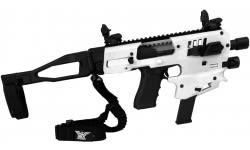 CAA USA Micro Conversion Kit Gen-2 For Glock Handguns 17/19/19X/22/23/31/32/45 NO NFA REQUIRED - White - Advanced Kit W/ Sights & Sling - MCKGEN2WA