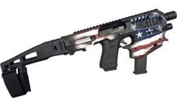 CAA USA Micro Conversion Kit, Glock Handguns 17/19/19X/22/23/31/32/45 NO NFA REQUIRED Limited Edition Patriot Flag - MCKUSA